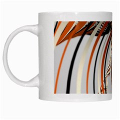 Splines Line Circle Brown White Mugs by Mariart