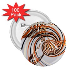 Splines Line Circle Brown 2 25  Buttons (100 Pack)  by Mariart
