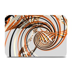 Splines Line Circle Brown Plate Mats by Mariart