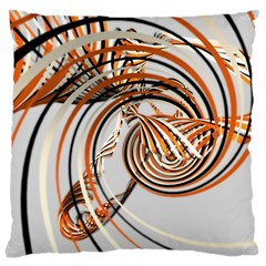 Splines Line Circle Brown Large Cushion Case (two Sides) by Mariart