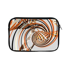 Splines Line Circle Brown Apple Ipad Mini Zipper Cases by Mariart