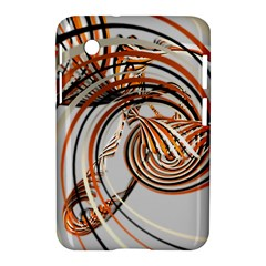 Splines Line Circle Brown Samsung Galaxy Tab 2 (7 ) P3100 Hardshell Case  by Mariart