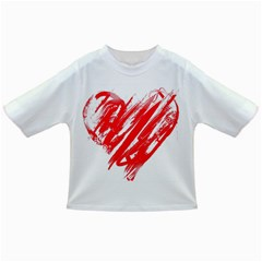 Valentines Day Heart Modern Red Polka Infant/toddler T Shirts by Mariart