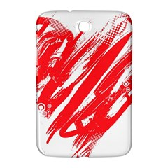 Valentines Day Heart Modern Red Polka Samsung Galaxy Note 8 0 N5100 Hardshell Case  by Mariart