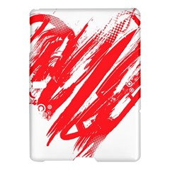 Valentines Day Heart Modern Red Polka Samsung Galaxy Tab S (10 5 ) Hardshell Case  by Mariart