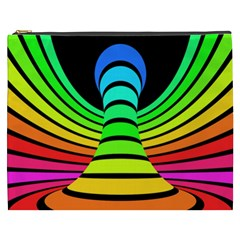 Twisted Motion Rainbow Colors Line Wave Chevron Waves Cosmetic Bag (xxxl)  by Mariart