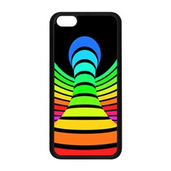 Twisted Motion Rainbow Colors Line Wave Chevron Waves Apple Iphone 5c Seamless Case (black) by Mariart