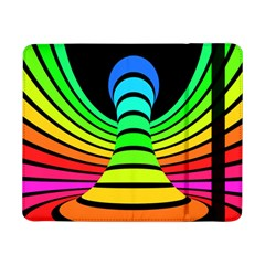 Twisted Motion Rainbow Colors Line Wave Chevron Waves Samsung Galaxy Tab Pro 8 4  Flip Case by Mariart