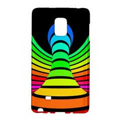 Twisted Motion Rainbow Colors Line Wave Chevron Waves Galaxy Note Edge by Mariart