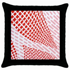 Waves Wave Learning Connection Polka Red Pink Chevron Throw Pillow Case (black) by Mariart