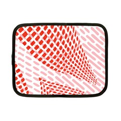 Waves Wave Learning Connection Polka Red Pink Chevron Netbook Case (small)  by Mariart