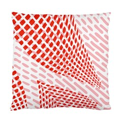 Waves Wave Learning Connection Polka Red Pink Chevron Standard Cushion Case (one Side) by Mariart