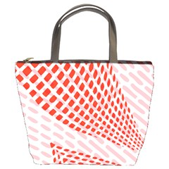 Waves Wave Learning Connection Polka Red Pink Chevron Bucket Bags by Mariart