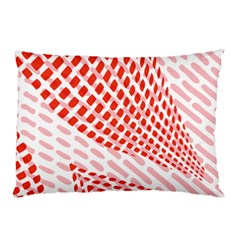 Waves Wave Learning Connection Polka Red Pink Chevron Pillow Case by Mariart