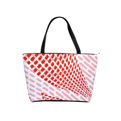 Waves Wave Learning Connection Polka Red Pink Chevron Shoulder Handbags by Mariart