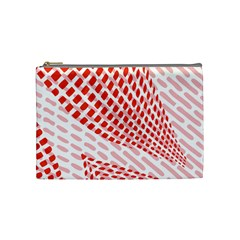 Waves Wave Learning Connection Polka Red Pink Chevron Cosmetic Bag (medium)  by Mariart
