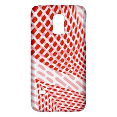 Waves Wave Learning Connection Polka Red Pink Chevron Galaxy S5 Mini by Mariart