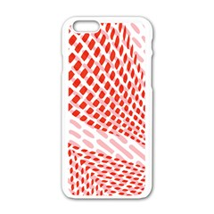 Waves Wave Learning Connection Polka Red Pink Chevron Apple Iphone 6/6s White Enamel Case by Mariart