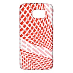 Waves Wave Learning Connection Polka Red Pink Chevron Galaxy S6 by Mariart