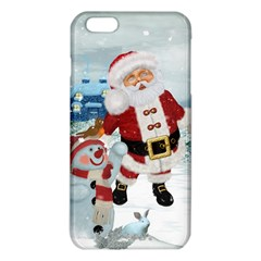 Funny Santa Claus With Snowman Iphone 6 Plus/6s Plus Tpu Case by FantasyWorld7