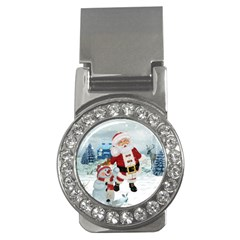 Funny Santa Claus With Snowman Money Clips (cz)  by FantasyWorld7