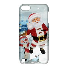 Funny Santa Claus With Snowman Apple Ipod Touch 5 Hardshell Case With Stand by FantasyWorld7