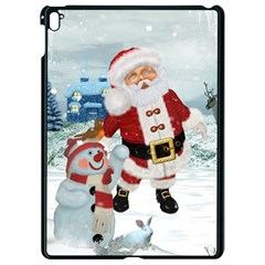 Funny Santa Claus With Snowman Apple Ipad Pro 9 7   Black Seamless Case by FantasyWorld7