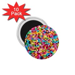 Mosaic Pattern 2 1 75  Magnets (10 Pack)  by tarastyle
