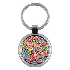 Mosaic Pattern 2 Key Chains (round)  by tarastyle