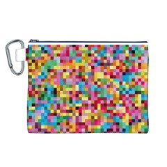 Mosaic Pattern 2 Canvas Cosmetic Bag (l) by tarastyle