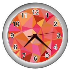 Mosaic Pattern 3 Wall Clocks (silver)  by tarastyle