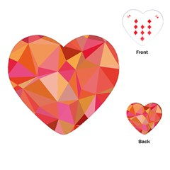 Mosaic Pattern 3 Playing Cards (heart)  by tarastyle