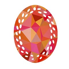 Mosaic Pattern 3 Oval Filigree Ornament (two Sides) by tarastyle