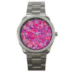 Mosaic Pattern 4 Sport Metal Watch by tarastyle