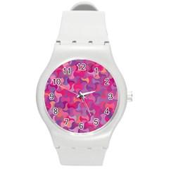 Mosaic Pattern 4 Round Plastic Sport Watch (m) by tarastyle