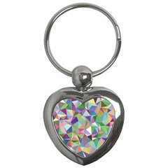 Mosaic Pattern 5 Key Chains (heart)  by tarastyle