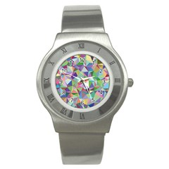 Mosaic Pattern 5 Stainless Steel Watch by tarastyle