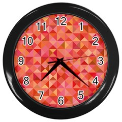 Mosaic Pattern 6 Wall Clocks (black) by tarastyle