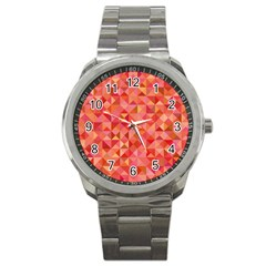 Mosaic Pattern 6 Sport Metal Watch by tarastyle