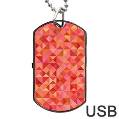 Mosaic Pattern 6 Dog Tag Usb Flash (one Side) by tarastyle