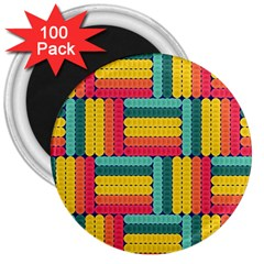 Soft Spheres Pattern 3  Magnets (100 Pack)