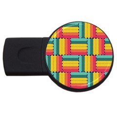 Soft Spheres Pattern Usb Flash Drive Round (4 Gb) by linceazul