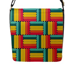 Soft Spheres Pattern Flap Messenger Bag (l)  by linceazul