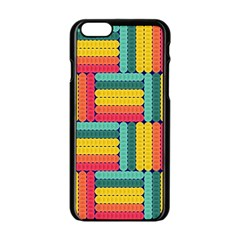 Soft Spheres Pattern Apple Iphone 6/6s Black Enamel Case