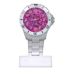 Mosaic Pattern 7 Plastic Nurses Watch by tarastyle