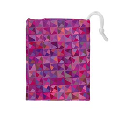 Mosaic Pattern 7 Drawstring Pouches (large)  by tarastyle