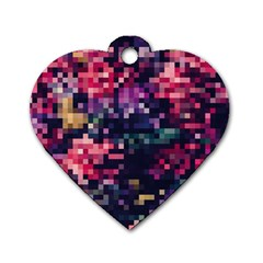 Mosaic Pattern 8 Dog Tag Heart (one Side) by tarastyle