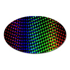 Digitally Created Halftone Dots Abstract Background Design Oval Magnet