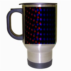 Digitally Created Halftone Dots Abstract Background Design Travel Mug (silver Gray)