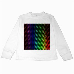 Digitally Created Halftone Dots Abstract Background Design Kids Long Sleeve T Shirts